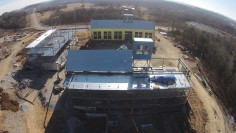 Building Overview Drone Photo