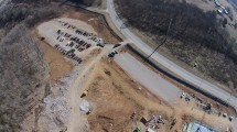 Parking Lot A and B Drone Photo