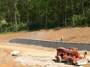 Retaining Wall in Progress