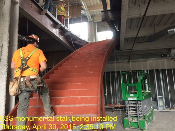 ESS Monumental Stair Installation